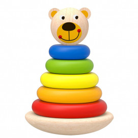 TOOKY TOY Wooden baby rings Bear
