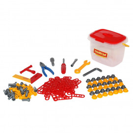 Polesie Construction tools in a box of 57 red