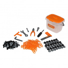Polesie Construction tools in a box of 57 orange
