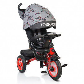 BYOX Tricycle TORNADO with music tray Red