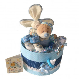Alma Diaper cake small BEAR Blue