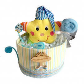 Alma Diaper cake small STAR Yellow