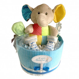 Alma Diaper cake small ELEPHANT Grey