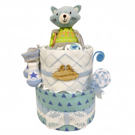 Alma Diaper cake CAT Blue