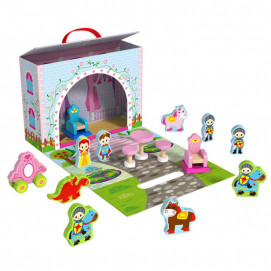 TOOKY TOY Wooden portable castle