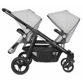 Topmark Stroller for twins 2 COMBI DUO BUGGY Grey