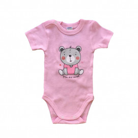Sali Baby bodysuits Bear pink ( from 56 to 74 cm )