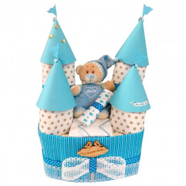 Alma Diaper cake CASTLE Blue